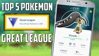 Top 5 Pokemon For The Great League In Pokemon Go!