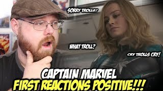 Captain Marvel First Reactions Are Positive...Despite Troll Backlash!!!