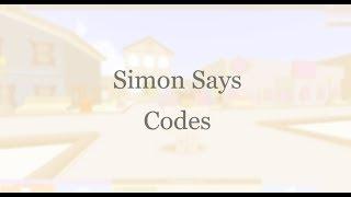 [ROBLOX] Simon Says Codes June 2019