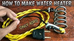 How To Make Water Heater At Home Useing Heater Coil In Simpl Way And Very Uesful