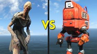 Fallout 4 - 250 GHOULS vs 25 NUKATRONS - Battles #67