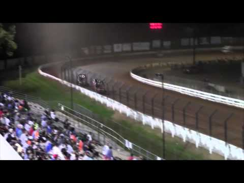 Williams Grove Speedway 410 and 360 Sprint Car Highlights 7-31-15