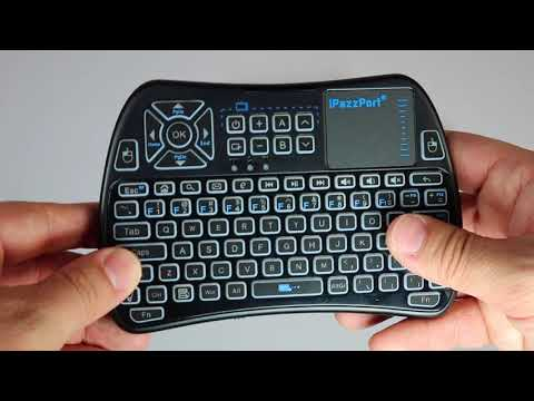 Review: iPazzPort Mini Wireless Keyboard with Touchpad Mouse Combo,Universal Infrared Remote Control