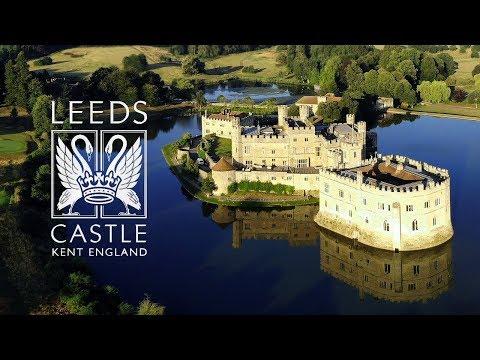 Leeds Castle, England Drone Flight (4K)