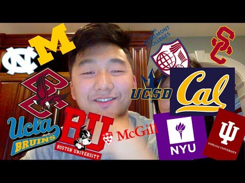 14 COLLEGES! Decision Reaction Video MICHIGAN, BOSTON COLLEGE, NYU, UCs