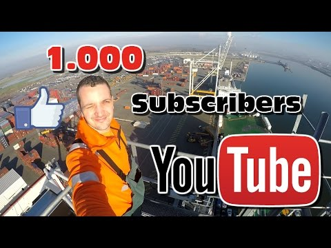 Life of a Harbour Crane Operator: 1.000 Sub. BONUS video!!