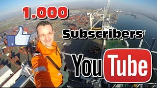 Gambar cover Life of a Harbour Crane Operator: 1.000 Sub. BONUS video!!