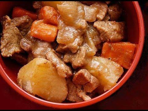 Жаркое с  мясом и грибами в мультиварке.  Roast with meat and mushrooms in slow cooker.