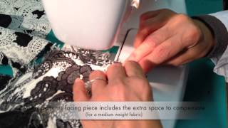How to sew the lapel facing to the jacket - Marfy pattern 3022