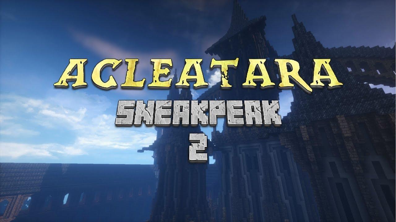 Minecraft] Acleatara Sneak Peek 2 {MMORPG Server Project} - dOb Movies