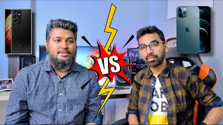 Samsung Galaxy S21 Ultra 5G vs iPhone 12 Pro Max || Our Thoughts!!