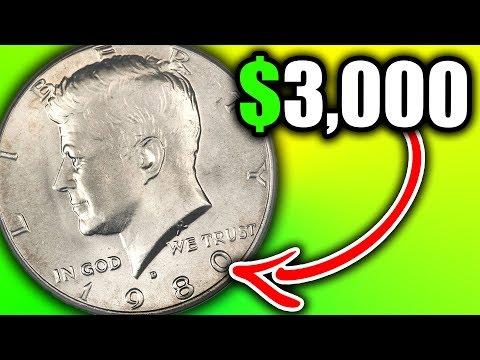 10 VALUABLE HALF DOLLAR COINS - 1980 HALF DOLLARS WORTH MONEY
