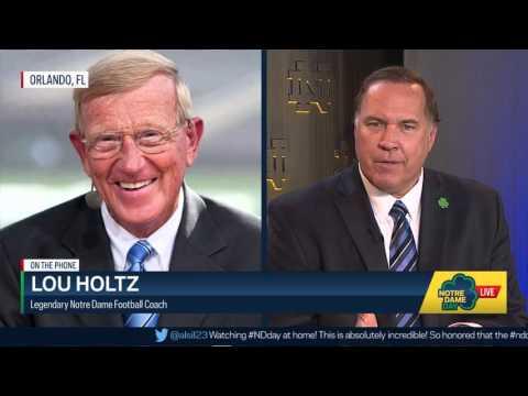 Lou Holtz Interview - Notre Dame Day 2016
