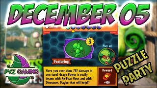 PvZ Heroes: Daily Challenge 12/05/2018 (December 05) – Puzzle Party [December 05th]