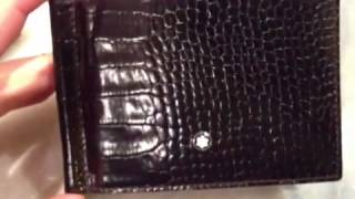 Unboxing montblanc meisterstuck portafoglio  6cc money clip