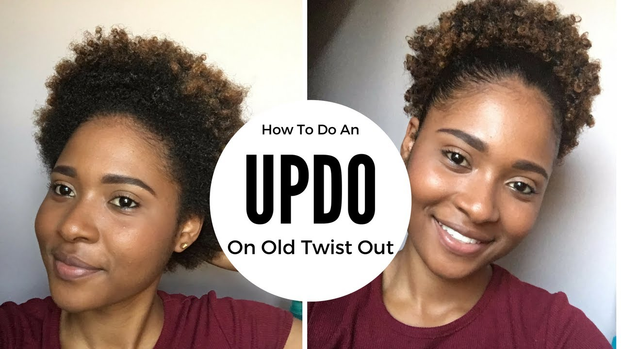 How To Updo On Old Twist Out Natural Hairstyle Short Natural