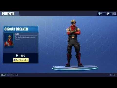 Circuit Breaker Outfit Daily Item In Fortnite Battle