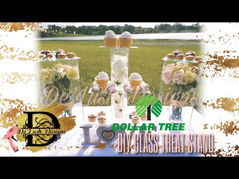 DOLLAR TREE DIY | GLASS TREAT TABLE DISPLAY
