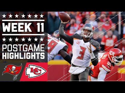 Buccaneers vs. Chiefs | NFL Week 11 Game Highlights