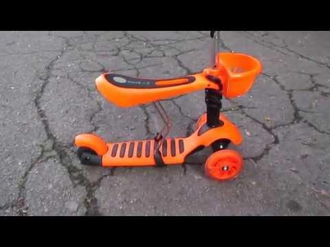 Детский самокат - беговел Scooter 3 в 1
