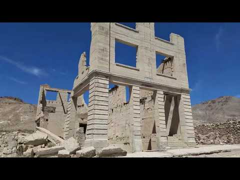 Nevada Ghost Town Video Tours - Rhyolite (near Beatty, NV)