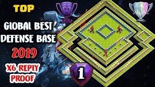 TOP GLOBAL BEST DEFENSE BASE 2019 | TH12 BEST LEGEND LEAGUE  DEFENSE BASE / ANTI 1 STAR ANTI 2 STAR