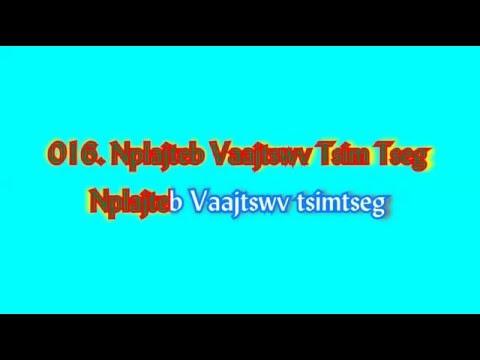 016  Nplajteb Vaajtswv Tsim Tseg