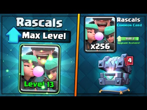 FULLY MAXED RASCALS UPGRADE! | Clash Royale | MAX RASCALS GAMEPLAY & BIG CHEST OPENING!