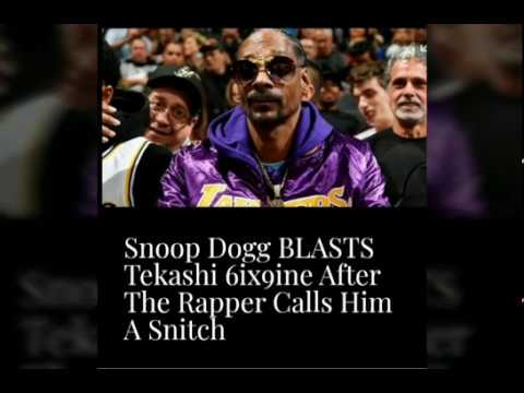 Snoop Dogg BLASTS Tekashi 6ix9ine After The Rapper Calls Him A ...