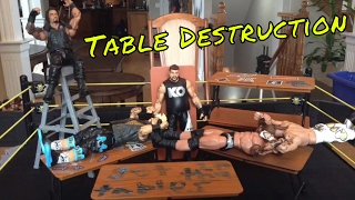WWE Best Table Moments (WWE Figures)