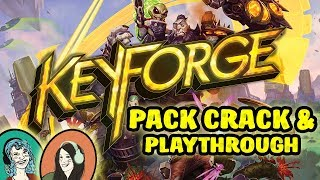 KeyForge Deck Unboxing + Playthrough! How to Play Fantasy Flight's Awesome New CCG