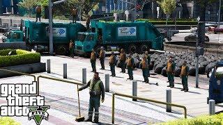 GTA 5 Showcase | Sanitation Department On Strike & Protesting By Dumping Trash | EUP Serve & Rescue