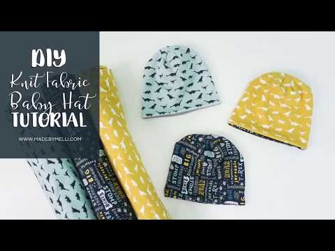 DIY Knit Fabric Baby Hat Tutorial - with or without he Cricut Maker machine