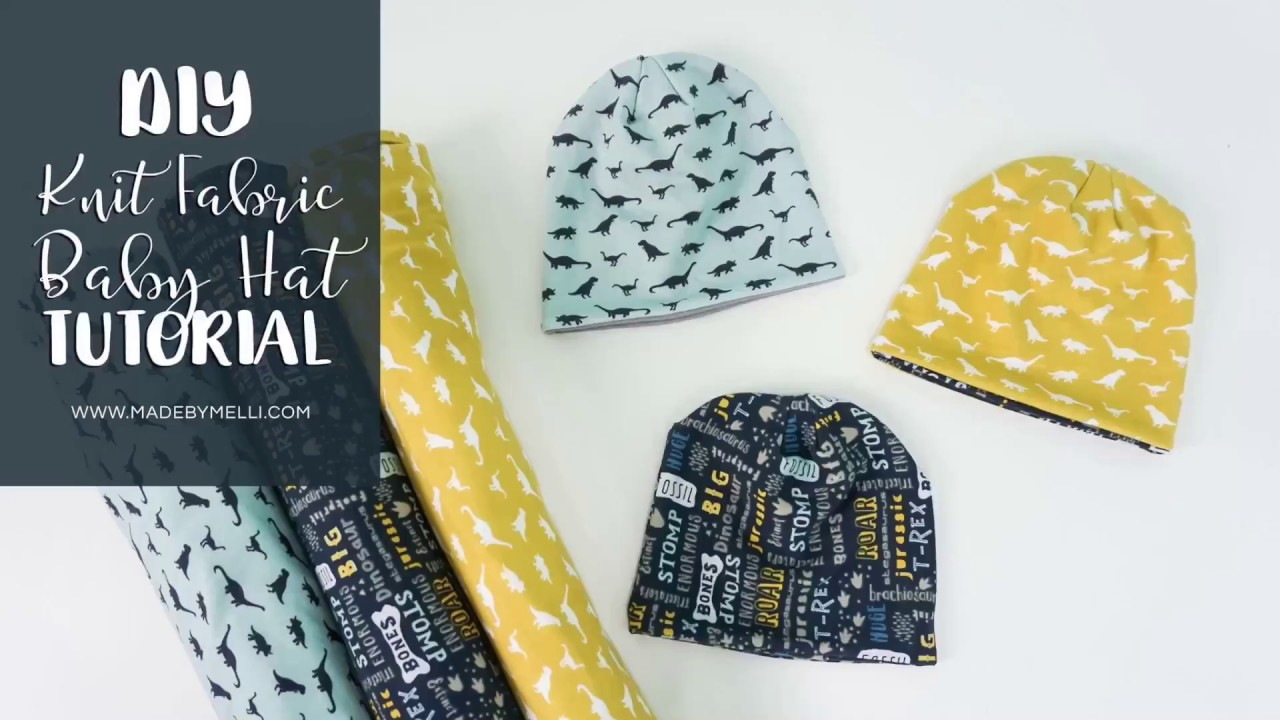 49581ee031b DIY Knit Fabric Baby Hat Tutorial - with or without he Cricut Maker machine
