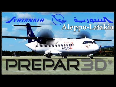 PREPAR 3D ( P3D 4.1 ) ! Syrian Air ! Aleppo - Latakia ! Full Flight to Latakia