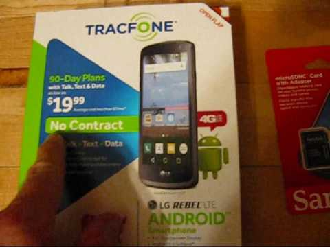 LG Rebel LTE Phone and 32GB Micro SD Card