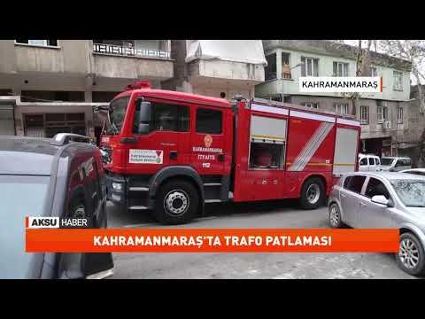 Kahramanmaraş'ta trafo patlaması