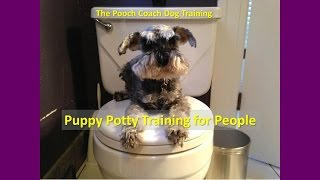 Puppy Potty Training for People - How to housebreak your dog without alienating him.