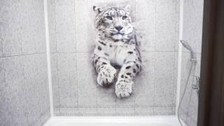 """ПВХ панель """"панда""""- снежный барс"""