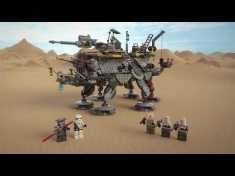 Новинка Лего Звездные войны Шагающий штурмовой вездеход AT TE капитана Рекса
