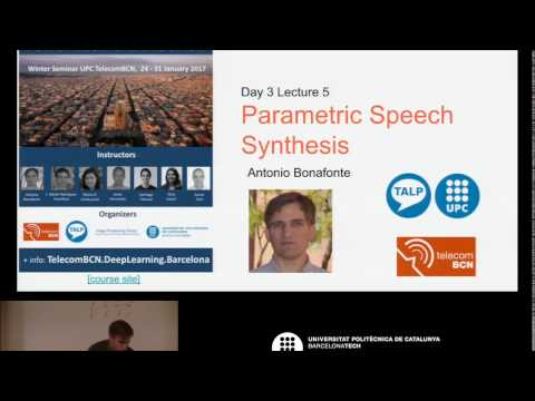 D3L5 Parametric Speech Synthesis (by Antonio Bonafonte)