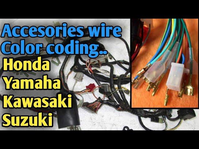 accesories wire / color coding ng ating mga motor /honda/kawasaki/suzuki/yamaha  - youtube  youtube