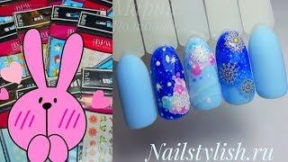 Простой и сказочный зимний дизайн ногтей Маникюр со слайдерами BPW Распаковка посылки Nailstylish ru