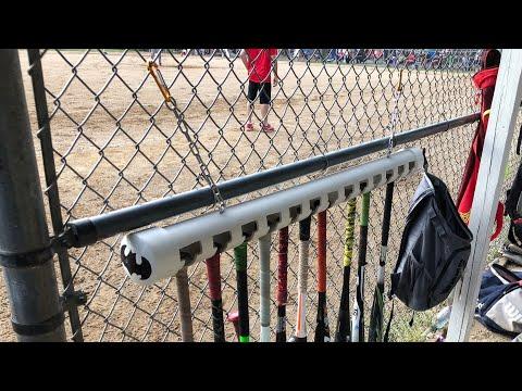 How To Build A Portable Softball And Baseball PVC Dugout Bat Rack