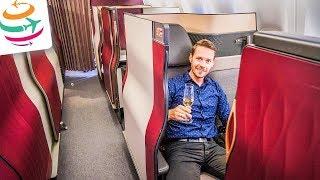 Qatar Airways Q Suite Business Class 777 Review (DE) | GlobalTraveler.TV