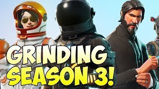 Fortnite: I HIT 100 WINS! [103/150] GRINDING Season 3 BATTLE PASS!