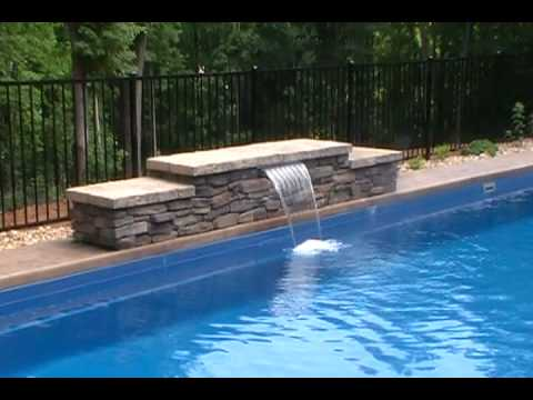 Water Features And Fiberglass Swimming Pools Youtube