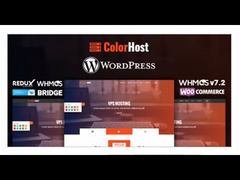 ColorHost   Responsive Web Hosting and WHMCS WordPress Theme ...