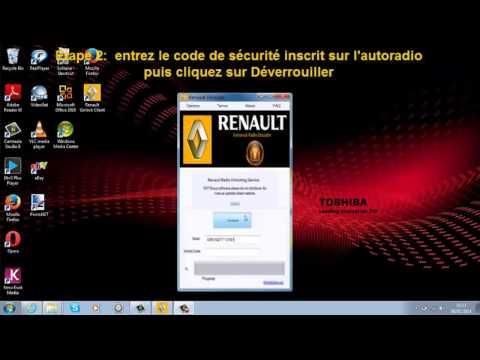 joyez renault radio code list