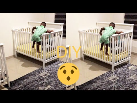 CRIB JUMPING TODDLER||DIY Toddler bed rail